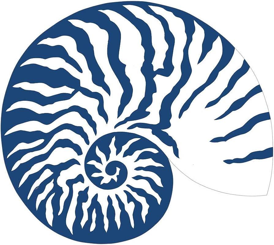 Caspari Shell Die Cut Place Mats In Blue White 2 Included