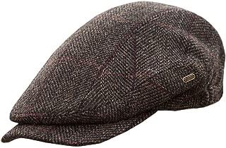 Men's Quiet Man Cap -Irish Tweed Flat Cap - Brown