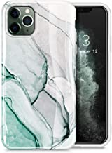 GVIEWIN Marble iPhone 11 Pro Max Case, Slim Thin Glossy Soft TPU Rubber Gel Phone Case Cover Compatible iPhone 11 Pro Max 6.5 Inch 2019 Release (Agaria/Cyan)