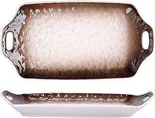 Large Rectangular Baker, Ceramics Rectangular Casserole Dish Baking Dishes with Handle for Oven Ceramic Baking Pan Lasagna...