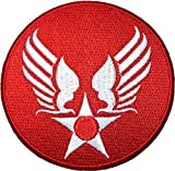 US Air Force Army Military Jacket Vest Star Wing Sew Iron on Logo Emblem Embroidered Badge Sign Costume Patch - Red (US-AIR-Force-Wing-RED)