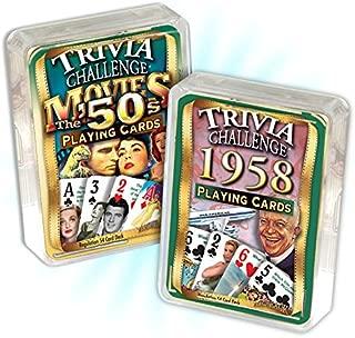Flickback Media, Inc. 1958 Trivia Playing Cards & 1950's Movie Trivia Combo: 61st Birthday or Anniversary