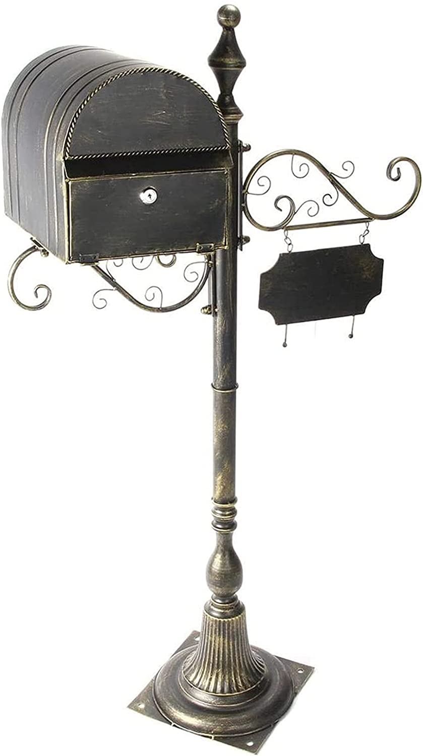HYDT Outdoor Vertical Mailbox A surprise price is realized with shopping Metal Letterbox Post Bronze