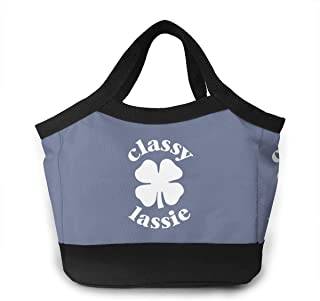 Classy Lassie St. Patrick's Day Lunch Bag Cooler Bag Kid Insulated Lunch Box Water-resistant Thermal Lunch Box Soft Liner Lunch Bags
