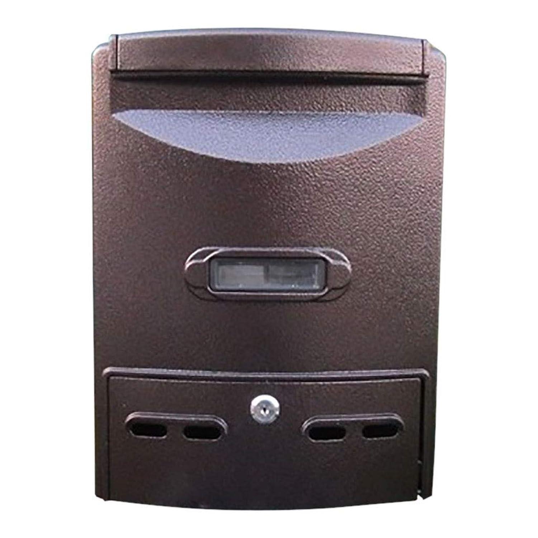 ロックレインレターボックスヴィラ屋外メールボックス付き壁領収書新聞ボックス(カラー:ブラック)