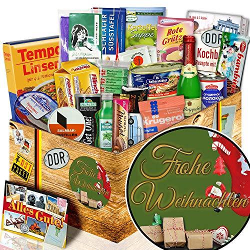 Frohe Weihnachten + Weihnachtsgeschenke für Frauen + DDR Korb Spezialitäten