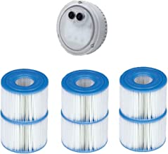 Intex PureSpa LED Spa Light + Type S1 Pool Filter Replacement Cartridge (6 Pack)