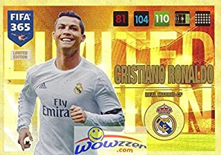 Christiano Ronaldo 2017 Panini Adrenalyn XL FIFA 365 EXCLUSIVE HUGE JUMBO XXL Limited Edition Card in Toploader! Rare Awesome Special Great Looking Limited Edition Card Imported from Europe!