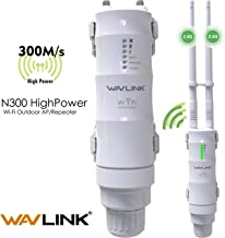 WAVLINK 2.4GHz 300Mbps Outdoor Long Range PoE Access Point, 3 in 1 Weatherproof Wireless AP (CPE)/ Exterior Router/WiFi Repeater Range Extender Internet Amplifier Network Signal Booster in 2 Antennas