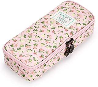 BTSKY Cute Pencil Case - High Capacity Floral Pencil Pouch Stationery Organizer Multifunction Cosmetic Makeup Bag, Perfect...