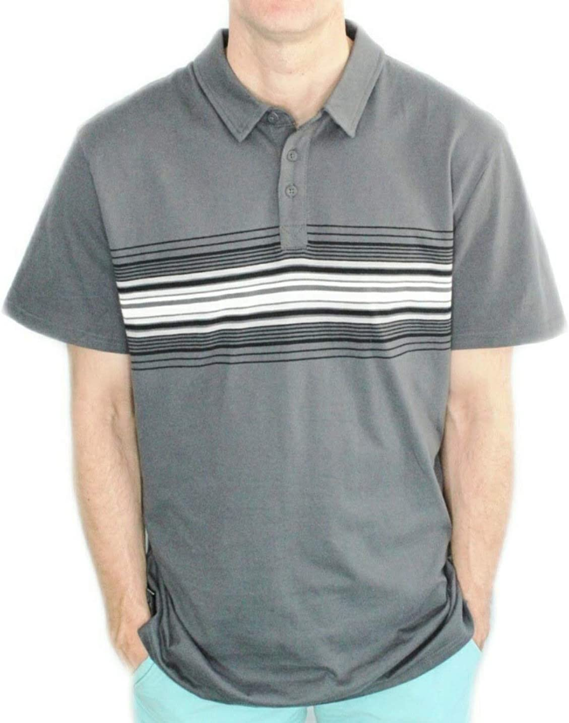 Hang Ten Men/'s Short Sleeve Polo Shirt