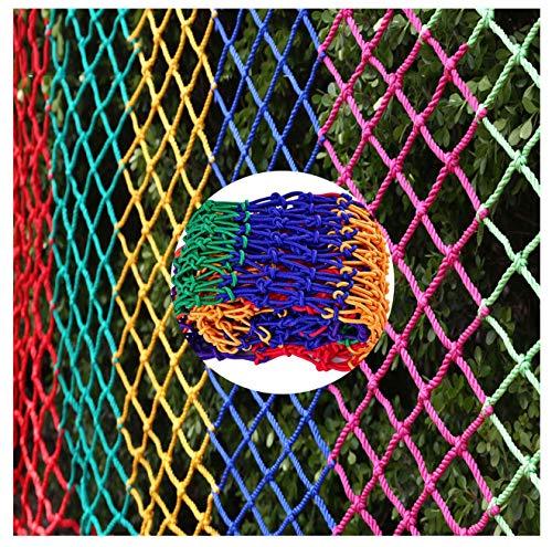 Red de carga Red de Protección, Red de Seguridad for Niños, Red de Valla for Parques Infantiles Al Aire Libre, Red Anticaída for Escaleras de Balcón, Red Decorativa de Cuerda de Nylon Coloreada, 2m 5m