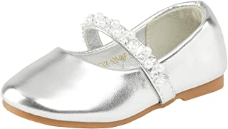 DREAM PAIRS Girl's SERENA-100 Mary Jane Casual Slip on Ballerina Flat (Toddler)