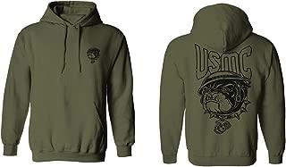 Back Bull Dog USMC Marine Corp USA American United America Hoodie