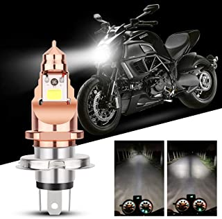 H4 LED Headlight Bulbs Motorcycle, Super Bright White 9003 HB2 HS1 P43t High Low Beam Light Motorbike Headlamp 1200LM Upgraded COB Chips 6000K