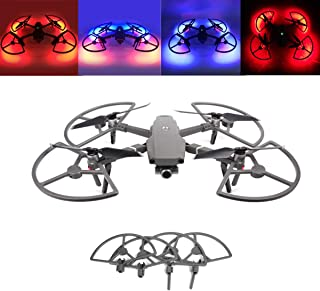 Tineer Mavic 2 LED Propeller Guards Integrated with Landing Gears Stabilizers Protection Cover with Colorful Lighting Mode for DJI Mavic 2 Pro/Zoom Drone Accessory