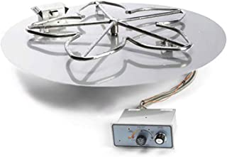 Hearth Products Controls (HPC Push Button Flame Sensing Fire Pit Burner Kit (PENTA36FPPK-FLEX-NG), 36-Inch Flat Pan, Natural Gas, UL Listed