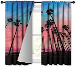 NUOMANAN Blackout Curtains for Bedroom,Palm Tree Santa Barbara Holiday,for Bedroom&Kitchen&Living Room,42 x 45 inch