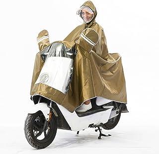 QFFL 電気自動車創造的なジャカードのレインコート/オートバイダブルハット厚いレインコート/不透水防水電気自動車ポンチョ(8色オプション) レインコート (色 : F f, サイズ さいず : XXXL)