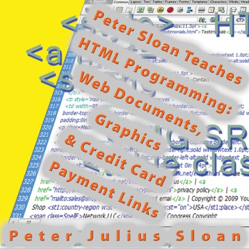 Peter Sloan Teaches HTML Programming audiobook cover art