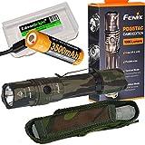 EdisonBright Fenix PD35 TAC 1000 Lumen CREE LED Tactical Flashlight (Camo) with Fenix USB Rechargeable 18650 ARB-L18-3500U Li-ion Battery BBX3 Battery case
