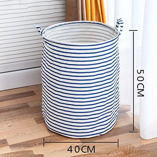 Xuan - Worth Having Rayures Bleues Panier de vêtements Sale Panier de Linge Panier de Rangement pour Les Jouets Tissu de Linge Sale Vêtements Dirty Clothing Storage Basket