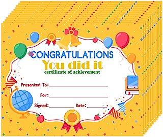"Hohomark 30PCS Award Certificates for Kids 8""x10"" Kindergarten Preschool Congratulations You Did It Certificate of Achieve..."