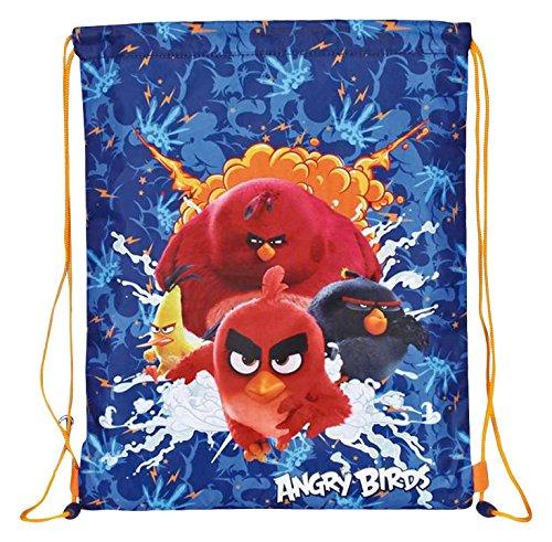 Perletti Petit Sac de Gym Bleu Garçon Angry Birds -...