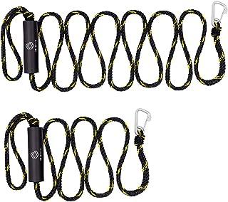 Obcursco 优质 PWC 码头,重型编织线,适用于船舶、皮艇、船舶、船舶两套绳,1.27 厘米 x 17.78 厘米和 3.66 厘米长度,带 316 不锈钢夹