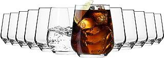 comprar comparacion Krosno Vasos de Agua Jugo Tumbler   Conjunto de 12 Piezas   400 ML   Splendour Collection Uso en Casa, Restaurante y en Fi...