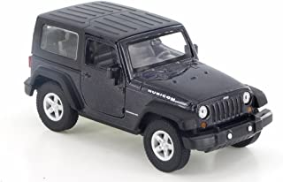 Welly Jeep Wrangler Rubicon, Black 42371H-D - 4.5