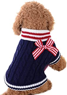 Medianas y Grandes mnoMINI Ropa de Navidad para Perros y Gatos Ropa c/álida de oto/ño e Invierno para Cachorros su/éter de Lana para Tejer para Mascotas peque/ñas