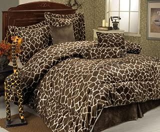 KingLinen 5Pcs Twin XL Extra Long Giraffe Comforter Set