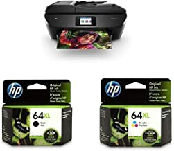 HP ENVY Photo 7855 All in One Photo Printer (K7R96A) and XL Ink Cartridges - 4 Colors