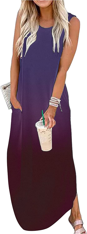 Good Vibes Rainbow 毎日続々入荷 Pocket 期間限定今なら送料無料 Sleeveless Dress Summer for Maxi Women