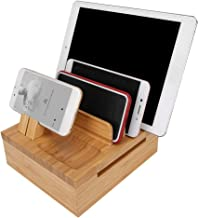 Yinuoday Bamboe Mobiele Telefoon Tablet PC Houder Drie Rooster Ontwerp Drie Rooster Elektronische Producten Opslag Beugel ...