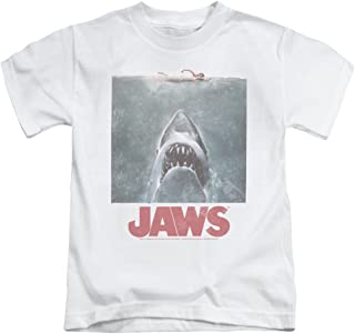 Jaws Distressed Jaws Unisex Youth Juvenile T-Shirt for Girls and Boys