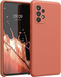 kwmobile telefoonhoesje compatibel met Samsung Galaxy A52 / A52 5G / A52s 5G - Hoesje met siliconen coating - Smartphone c...