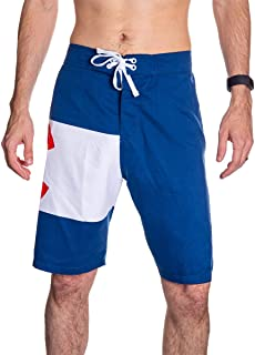 Calhoun Men's State Flag Swim Board Shorts