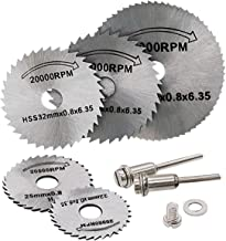 T-wilker 7pcs hoja de sierra circular HSS vio la herramienta rotatoria Dremel Cuchillas discos de corte Adecuado para la Madera, plástico, fibra de vidrio, cobre, aluminio y metal Hoja delgada