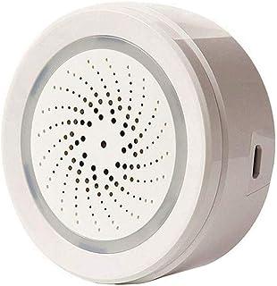 ECOOLBUY WiFi Inteligente Bajo Techo, en Exteriores Temperatura Humedad Sensor Funciona con Alexa Google Home para Home Ho...