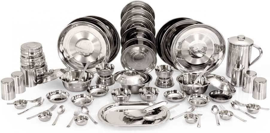 Kitchen ギフト Pro Stainless Steel Dinner Set 61 Pcs Of 即納送料無料!