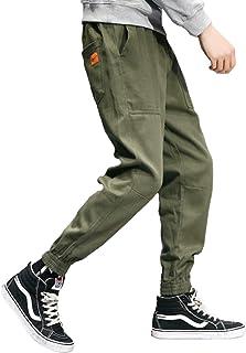 [ガナタ] スクエア ポケット アンクルパンツ ゆったり ラクチン カジュアル ジョガー ボトムス ウエスト ストラップ