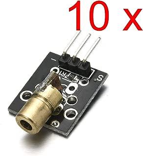 DAOKI 10PCS KY-008 3pin 650nm 5V Laser Transmitter Sensor Module for Arduino AVR PIC