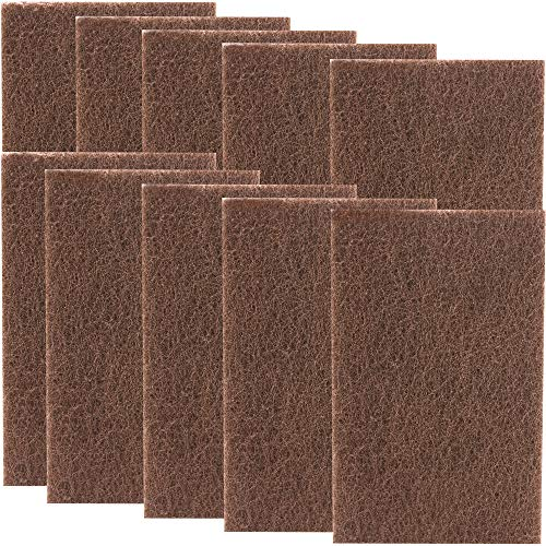 Non Scratch, Heavy Duty XL Brown Scouring Pads. 6x9 in...