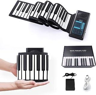 電子キーボード 楽器 ロールピアノ 88鍵盤 ピアノ 140種類音色 Bluetooth機能 128リズム 80デモン曲 USB充電 スピーカー内蔵 初心者 練習 日本語説明書付き