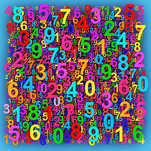 Bgraamiens Puzzle-Floating Numbers-1000 Pieces Creative Colorful Numbers Color Challenge Jigsaw Puzzles for Adults and Kids