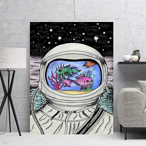 BZCBX Impresión en Lienzo Pecera de Astronauta Abstracto Impresion en Calidad Fotografica Arte Moderno de la Pared de la Sala de Estar Listo para Colgar 40x60 cm