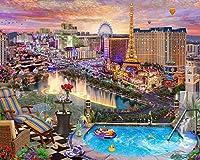 賑やかな街の明かりの下で-大人のための1000ピースのジグソーパズル脳の挑戦のための子供たち大規模な教育知的ゲーム家の装飾-50cmx75cm