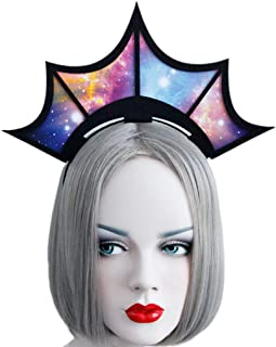 Dayloveme Women Hair Hoop Beautiful Crown Headband Colorful Starry Sky Party Decor Supply